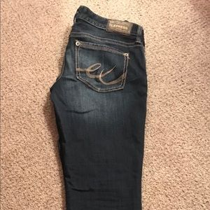 Express skinny low rise jeans- size 6 reg